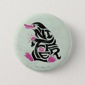 Niffler Typography Graphic Pinback Button