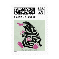 Niffler Typography Graphic Stamp