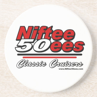 Niftee50ees Classic Cruisers Logo Beverage Coasters
