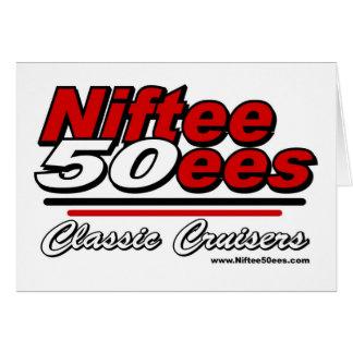 Niftee50ees Classic Cruisers Logo Greeting Card