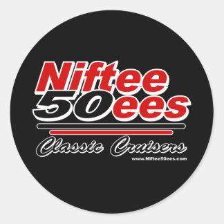 Niftee50ees Classic Cruisers Logo Round Sticker