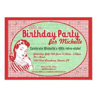 Nifty 50's Birthday Party Invitation