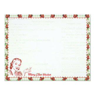 Nifty 50's Cherry Gal Personalized Flat Note Cards