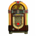 """Nifty 50s Jukebox Ornament<br><div class=""""desc"""">Acrylic photo sculpture ornament with an image of a 50s-style jukebox. See matching acrylic photo sculpture keychain,  magnet and sculpture. See the entire Nifty 50s Ornament collection in the SPECIAL TOUCHES 