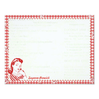 Nifty 50's Posie Gal Personalized Flat Note Cards