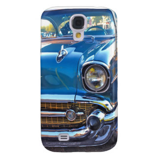 Nifty Fifties in Blue Galaxy S4 Case