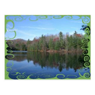 Nifty Glassy Lake Shot Postcard