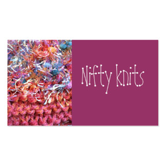 Nifty knits business card