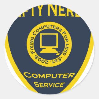 Nifty Nerds Classic Round Sticker