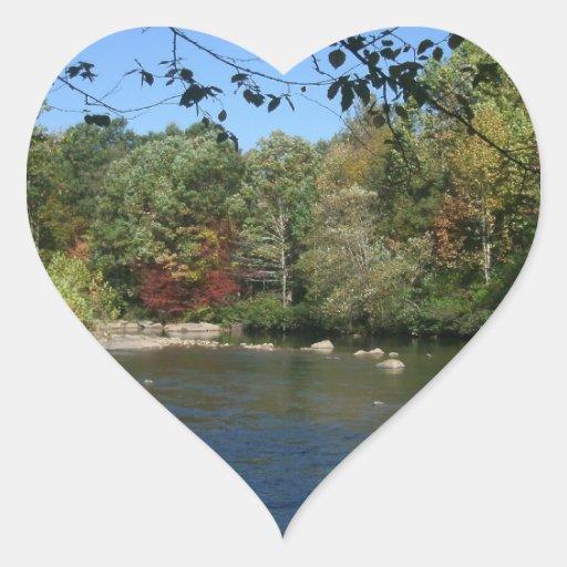 Nifty River Heart Sticker