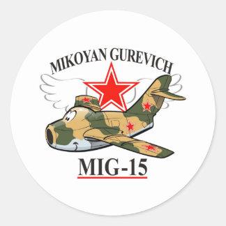 nig-15 round sticker