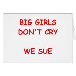nig girls greeting card