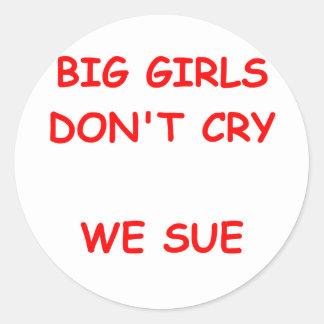 nig girls classic round sticker
