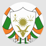 Niger Coat Of Arms Round Stickers