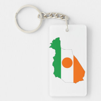 niger country flag map shape symbol keychain