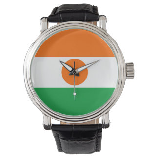 niger country flag nation symbol wristwatch