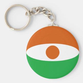 Niger Fisheye Flag Keychain