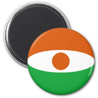 Niger Fisheye Flag Magnet