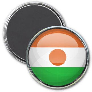 Niger Flag Glass Ball Magnet
