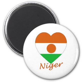 Niger Flag Heart Magnet