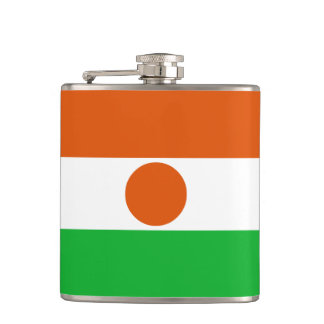 Niger Flag Hip Flask