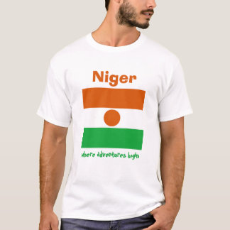 Niger Flag + Map + Text T-Shirt