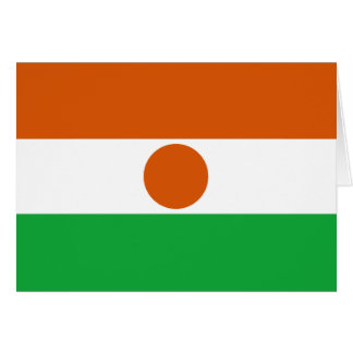 Niger Flag Notecard Stationery Note Card