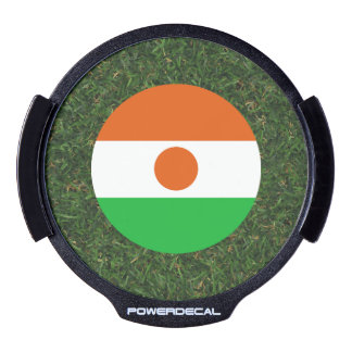Niger Flag on Grass LED Car Decal