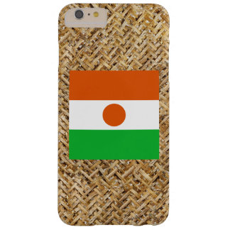 Niger Flag on Textile themed Barely There iPhone 6 Plus Case