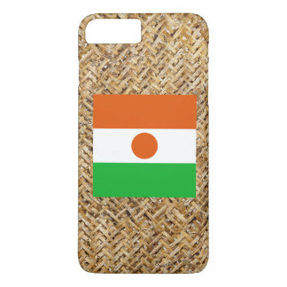 Niger Flag on Textile themed iPhone 8 Plus/7 Plus Case
