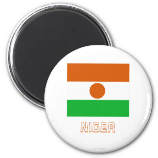 Niger Flag with Name Refrigerator Magnets