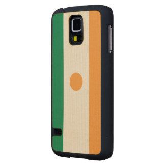 Niger Flag Carved® Maple Galaxy S5 Slim Case