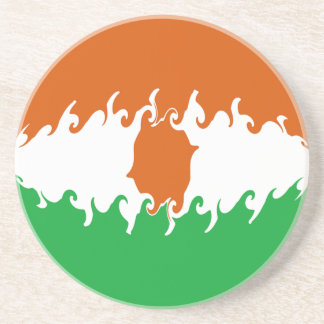 Niger Gnarly Flag Beverage Coasters