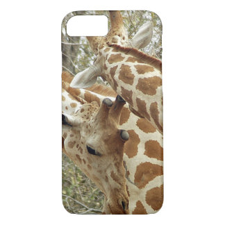 Niger, Koure, two Giraffes in bushes in the west iPhone 8/7 Case