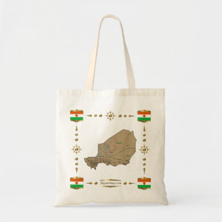 Niger Map + Flags Bag