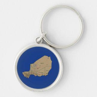 Niger Map Keychain