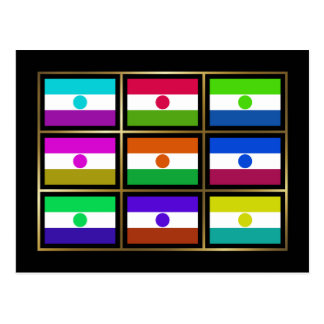 Niger Multihue Flags Postcard