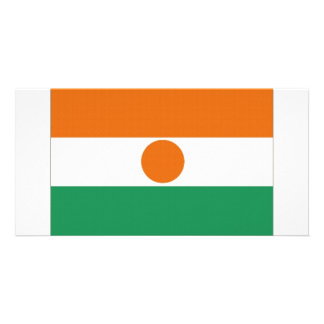 Niger National Flag Photo Card Template
