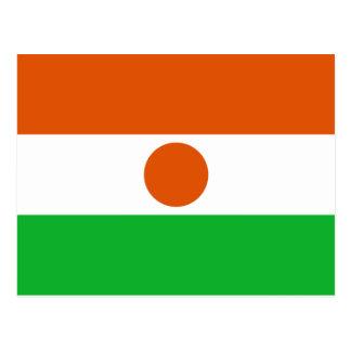 Niger, Nicaragua flag Postcard