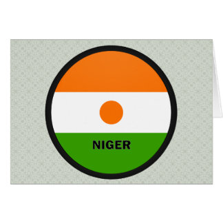 Niger Roundel quality Flag Greeting Card