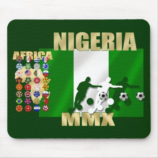 Nigeria 32 países MMX 2010 mousepad del fútbol Alfombrilla De Ratones