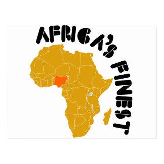 Nigeria, Africa map design Postcard