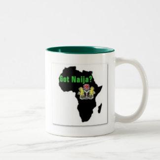Nigeria , Africa T-Shirt and Etc Two-Tone Coffee Mug