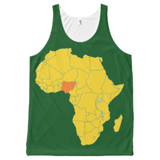 Nigeria All-Over Print Tank Top
