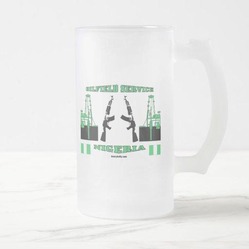 Nigeria Armed Oilfield Service, Oil,Glass,Beer Mug