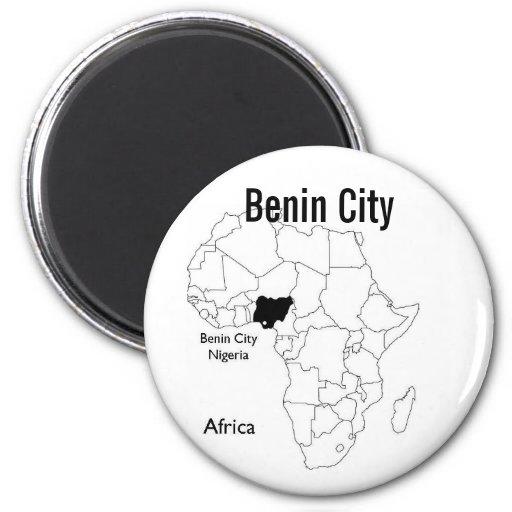 nigeria, Benin City Button 2 Inch Round Magnet