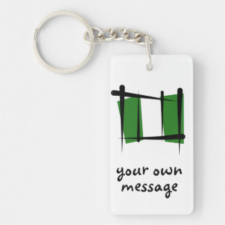 Nigeria Brush Flag Acrylic Key Chains