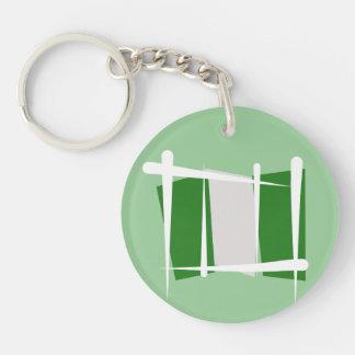 Nigeria Brush Flag Acrylic Keychains