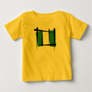 Nigeria Brush Flag Baby T-Shirt