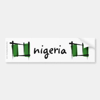 Nigeria Brush Flag Bumper Sticker